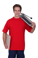 Man holding a tool