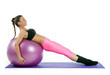 woman pilates exercise