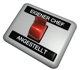 3D Schalter - EIGENER CHEF - ANGESTELLT