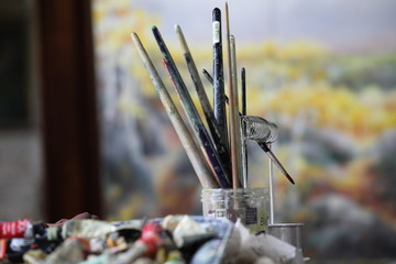 pinceaux du peintre erika gage-bethke