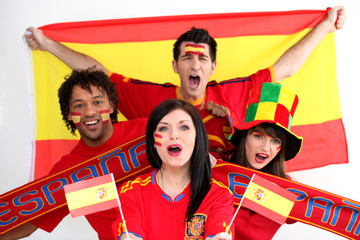 Spanish football supporters