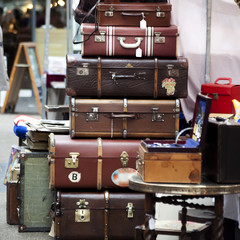 vintage suitcase on antic market