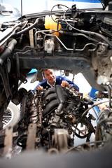 Car at the mechanic