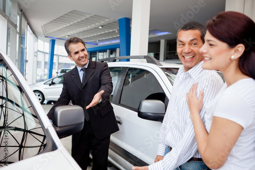 Couple at the dealership