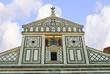Facade of the San Minitao Church Florence Italy