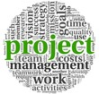 Project and management in tag cloud