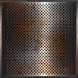 Grunge performated metal background