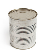 Metal barrel isolated on white