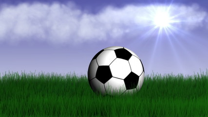 Football Ball and Speech Balloon - HD1080