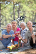 senior people during picnic