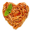 Spaghetti Heart Shape with Basil