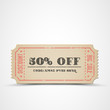 Vector vintage sale coupon