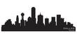 Dallas, Texas skyline. Detailed vector silhouette