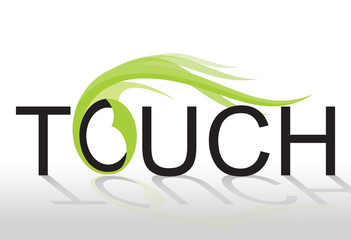 Touch with text