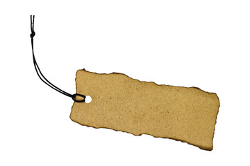 Blank tag tied with string.