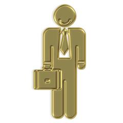 Silhueta dourada de um executivo