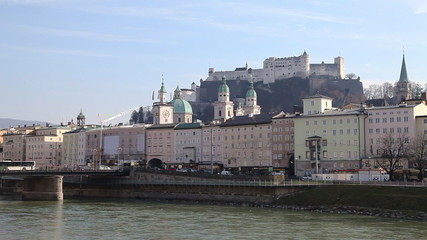 Salzburg's famous old town and iconic Hohensalzburg fortress