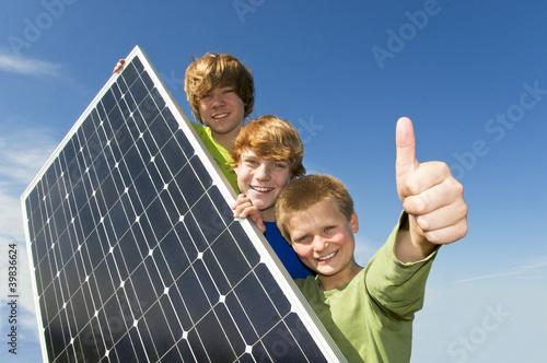 Leinwanddruck Bild Solarenergie