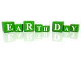 Earth Day in 3d cubes poster