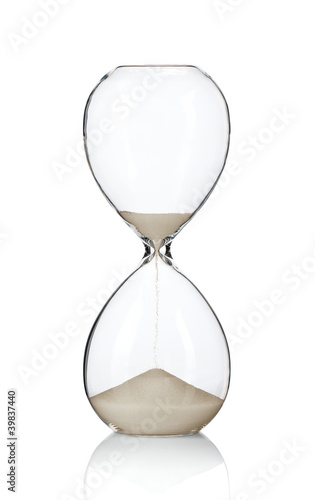 Hourglass, sandglass isolated on white background