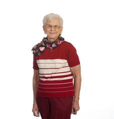 Pretty Elderly Lady Standing