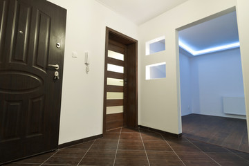Hall view for modern apartment interior