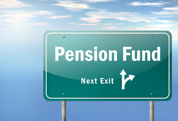 "Highway Signpost ""Pension Fund"""