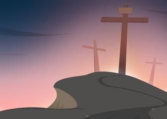 Crosses on Golgotha