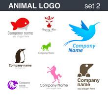 Abstrakcyjna logo. Logotypy zwierząt.