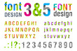Font design. Ribbon Alphabet. vector.