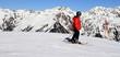 Fototapete Gipfel - Skilaufen - Hochgebirge