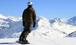 Fototapete Schnee - Trampelpfad - Hochgebirge