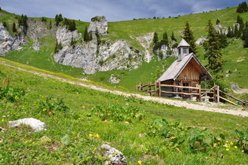 Kapelle in den Alpen