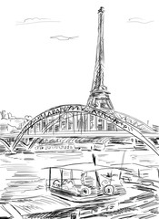 Eiffel Tower, Paris illustration