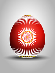 Red dcorated Easter Egg