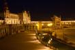 Plaza de España in Sevilla, Spain. Panoranic at night