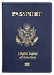 us passport isolated on white background