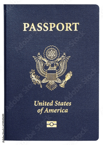 us passport isolated on white background - 39849691