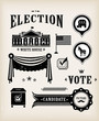 USA election icon set