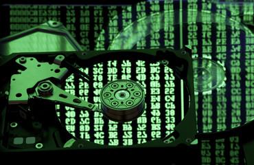 data storage, backup and restore concept