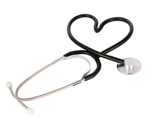 stethoscope as a heart