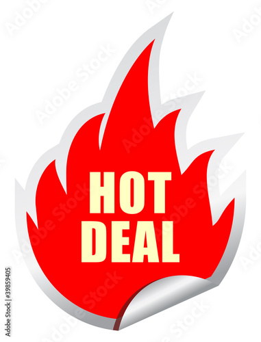 Vector hot deal sticker