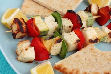Halloumi cheese souvlaki