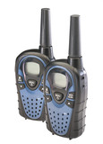 Two walkie talkies, isolated poster