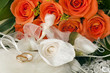 wedding favors,wedding rings and roses