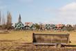 Farmers wagon in typical Dutch landscape