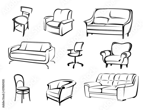 Furniture vector elements