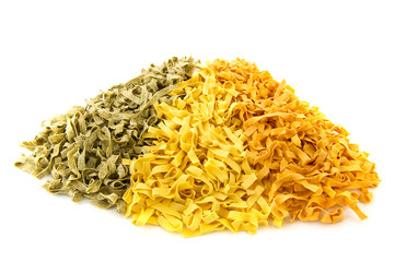 Three colors pasta