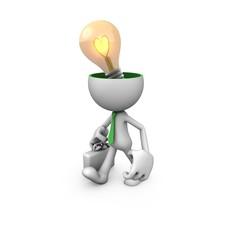 Gentleman creative light bulbs