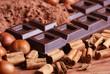 tavoletta di cioccolato con cacao in polvere - due